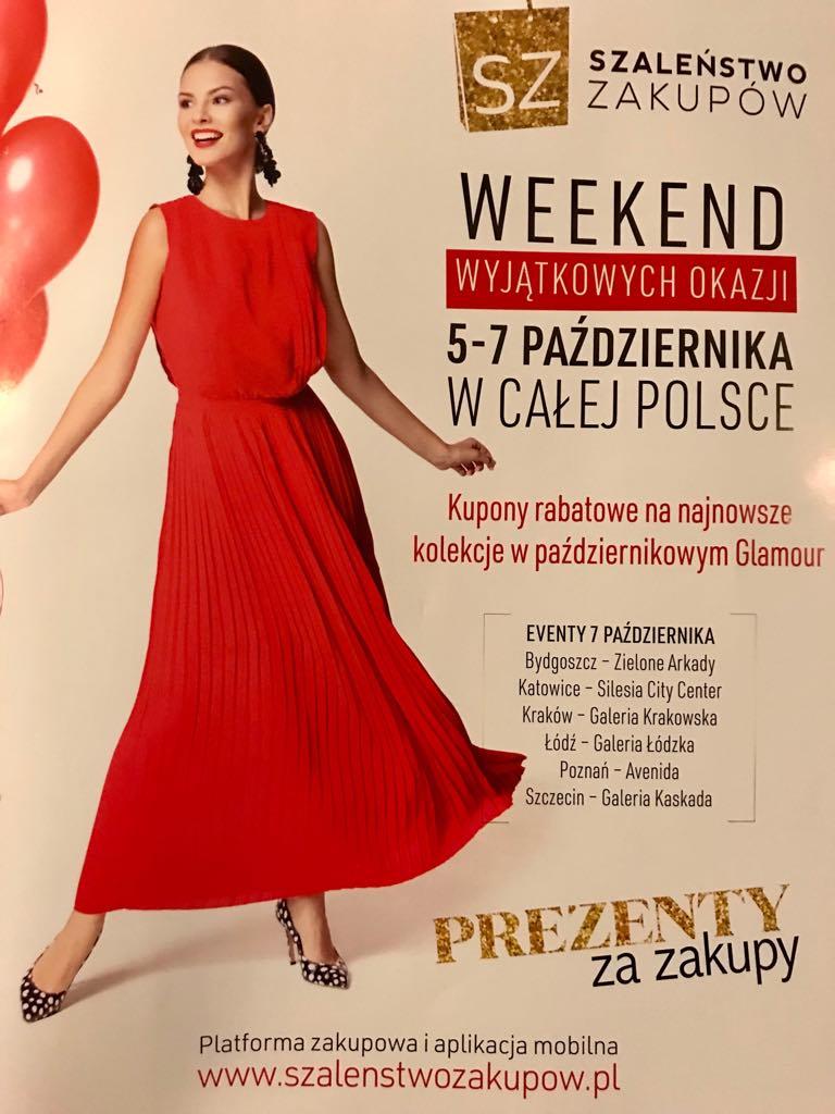 Weekend Zniżek z magazynami Elle, Glamour, InStyle - Szaleństwo Zakupów w całej Polsce 5-7 października 2018                         title=