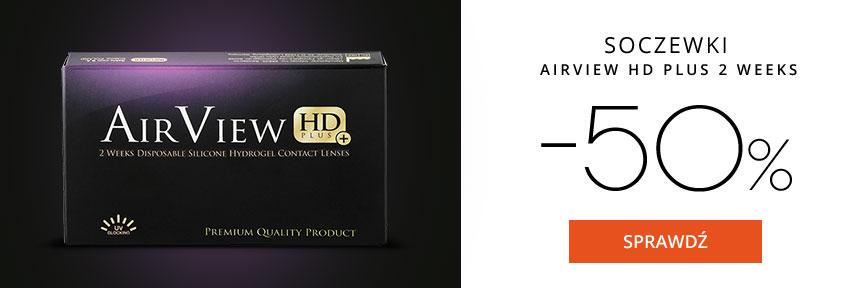 Szkła: 50% zniżki na soczewki Air View HD