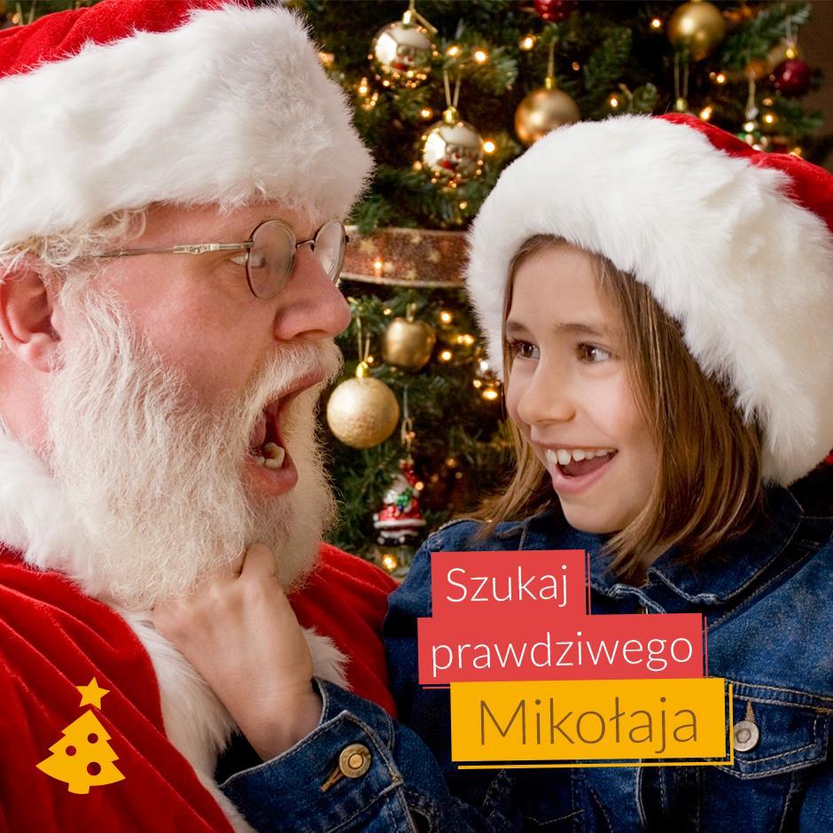 Święty Mikołaj z Futura Park Wrocław rozdaje bony