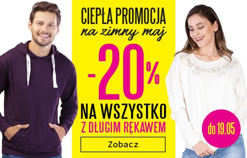 TXM: 20% rabatu na odzież z długim rękawem