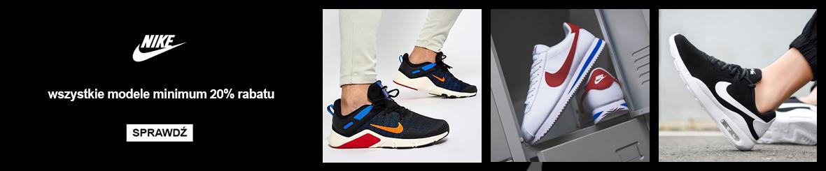 TanieSportowe.pl: minimum 20% zniżki na wszystkie modele obuwia sportowego Nike