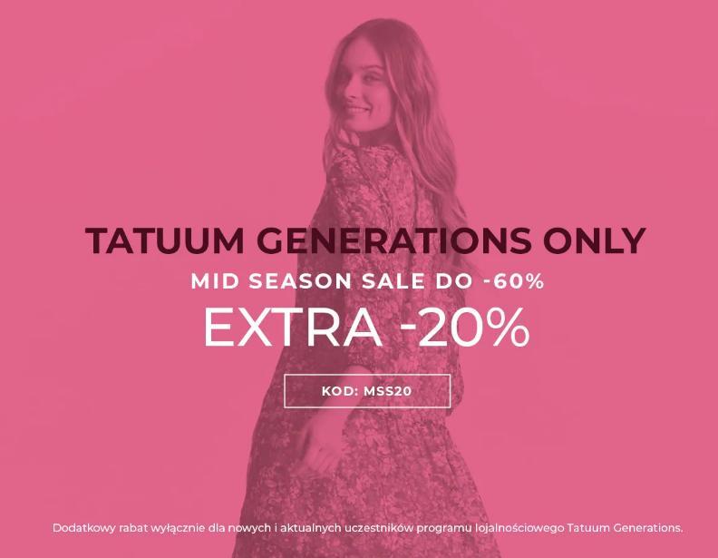 Tatuum: wyprzedaż dodatkowe 20% rabatu na odzież damską oraz męską z wyprzedaży do 60%