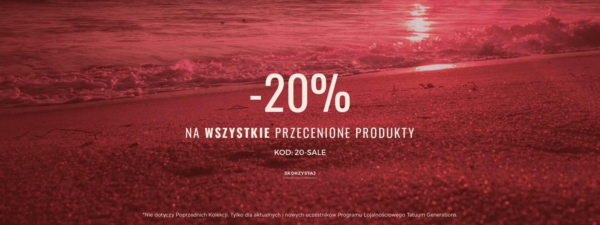 Tatuum: 20% zniżki na wszystkie przecenione produkty                         title=