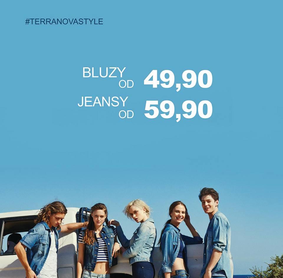 Terranova: bluzy od 49,9 zł, jeansy 59,9 zł                         title=