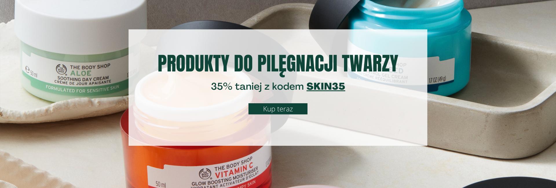 The Body Shop The Body Shop: 35% rabatu na naturalne kosmetyki do pielęgnacji twarzy