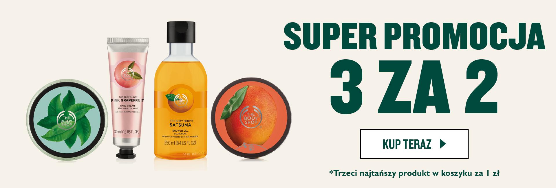 The Body Shop: przy zakupie 2 produktów, trzeci produkt za 1 zł                         title=