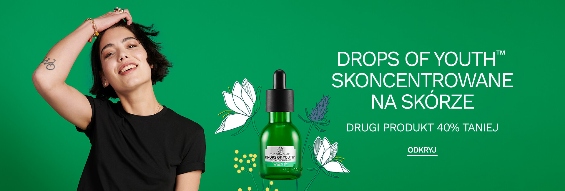 The Body Shop: 40% rabatu na drugi produkt Drops of Youth                         title=