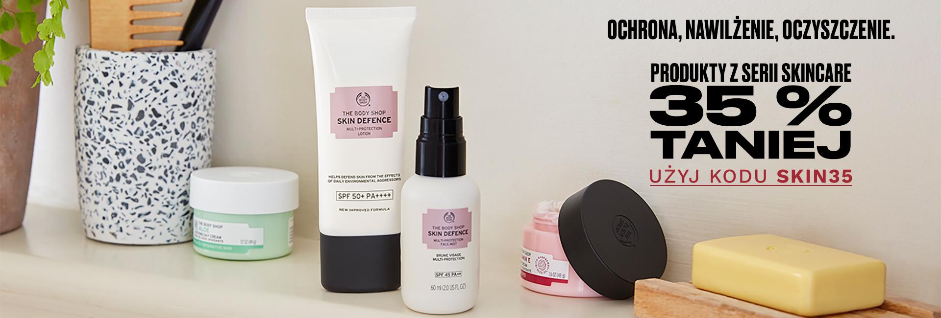 The Body Shop: 35% zniżki na kosmetyki do twarzy z serii Skincare                         title=