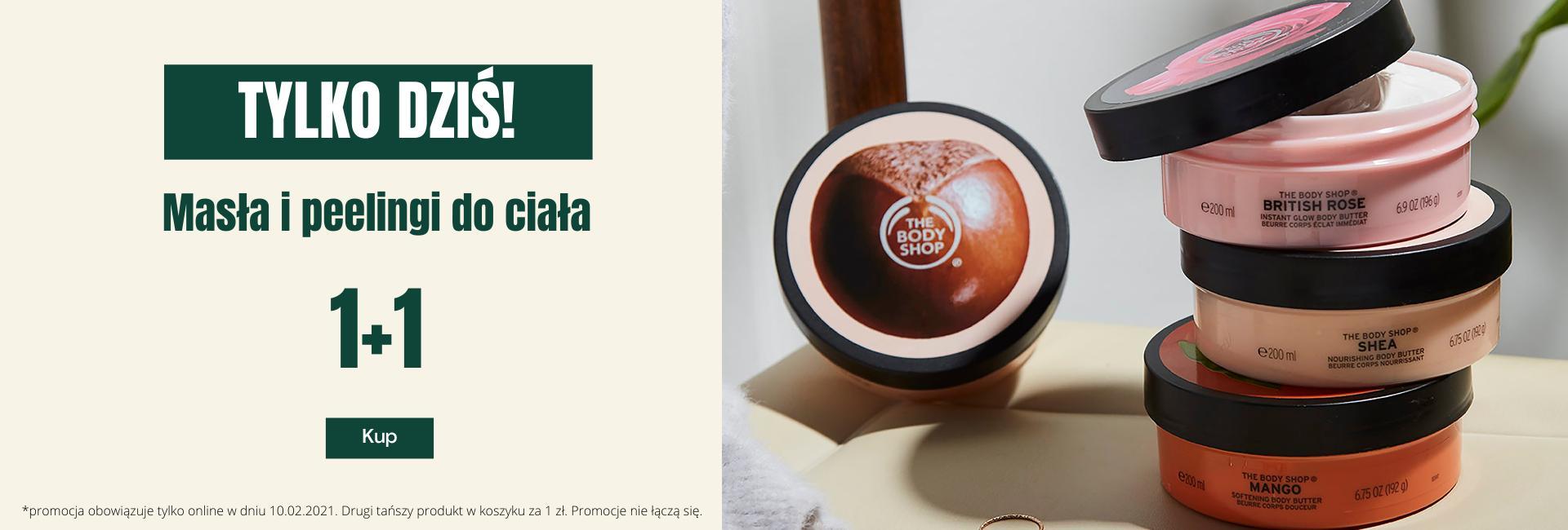 The Body Shop The Body Shop: drugi tańszy kosmetyk - masło lub peeling do ciała za 1 zł