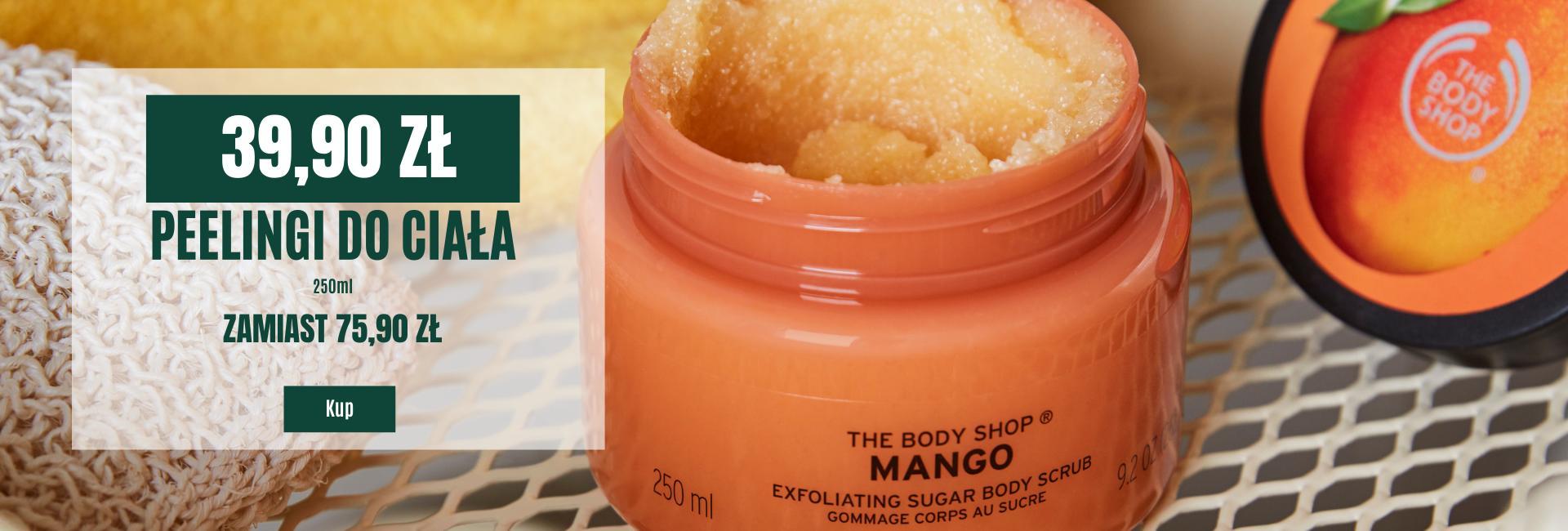 The Body Shop: peelingi do ciała za 39,90 zł