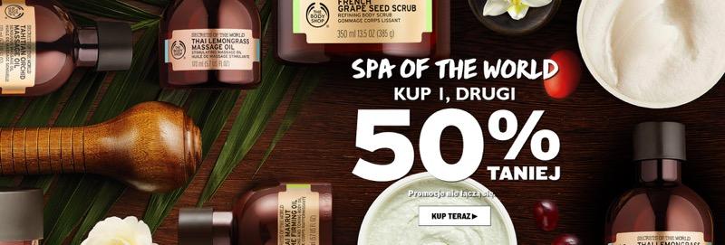 The Body Shop: 50% rabatu na drugi kosmetyk z serii SPA                         title=