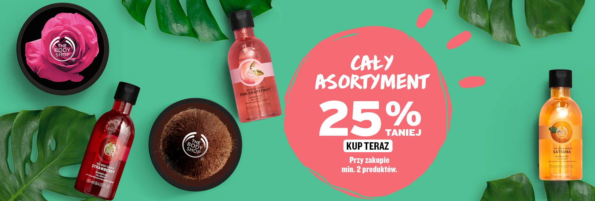 The Body Shop: 25% rabatu na kosmetyki przy zakupie min. 2 produktów                         title=