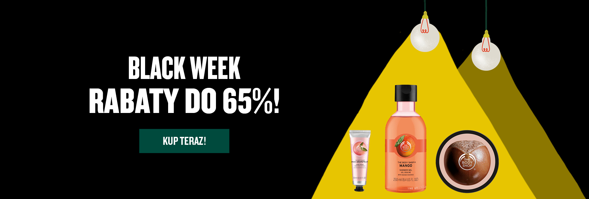 The Body Shop: Black Week do 65% rabatu na kosmetyki do pielęgnacji twarzy i ciała