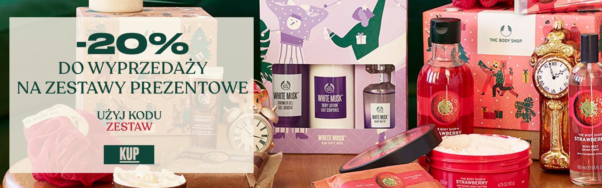 The Body Shop: 20% zniżki do wyprzedaży na zestawy prezentowe z kosmetykami