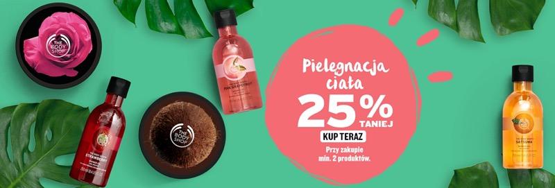 The Body Shop: 25% zniżki na kosmetyki do pielęgnacji ciała                         title=