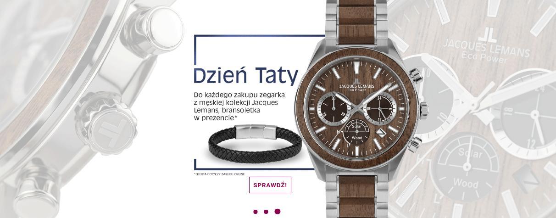 Time Trend Time Trend: do każdego zakupu zegarka z męskiej kolekcji Jacques Lemans, bransoletka w prezencie - na Dzień Ojca