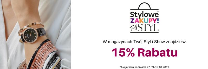 Time Trend: Stylowe Zakupy 15% rabatu na zegarki damskie, męskie i dziecięce