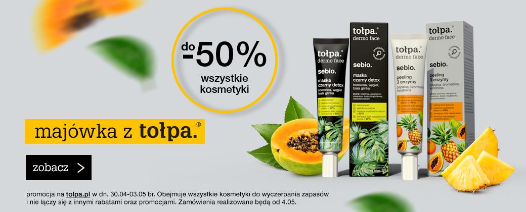 Tołpa Tołpa: do 50% zniżki na wszystkie kosmetyki