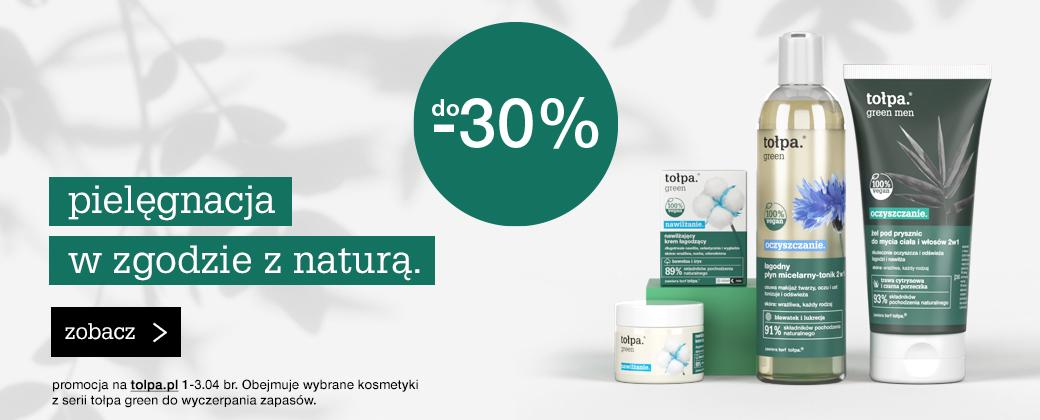 Tołpa Tołpa: 30% rabatu na wybrane kosmetyki