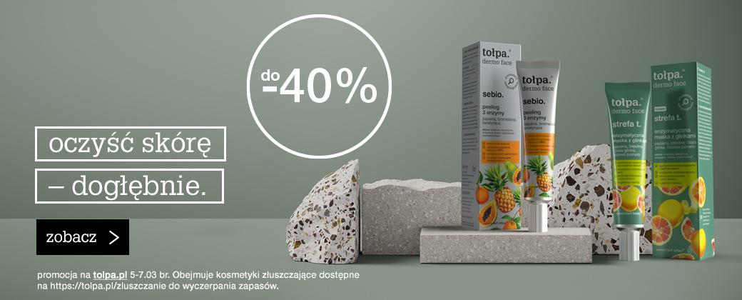 Tołpa Tołpa: do 40% rabatu na kosmetyki złuszczające