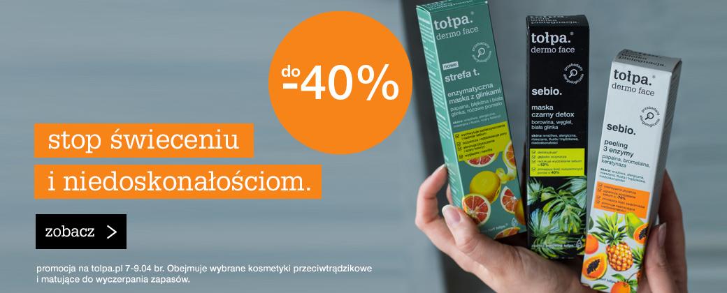 Tołpa: do 40% rabatu na kosmetyki przeciwtrądzikowe i matujące