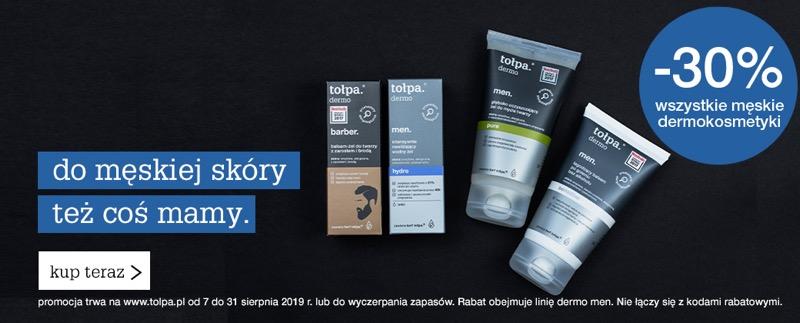 Tołpa: 30% rabatu na wszystkie męskie dermokosmetyki