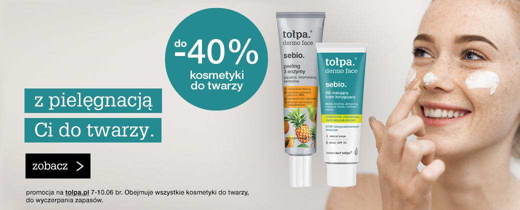 Tołpa Tołpa: do 40% zniżki na kosmetyki do twarzy