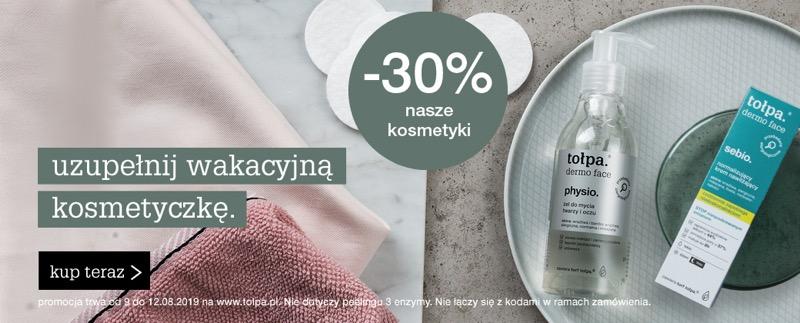 Tołpa: 30% rabatu na kosmetyki damskie i męskie