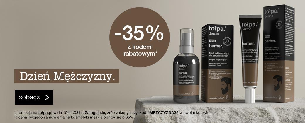 Tołpa Tołpa: 35% zniżki na kosmetyki męskie - promocja na Dzień Mężczyzn