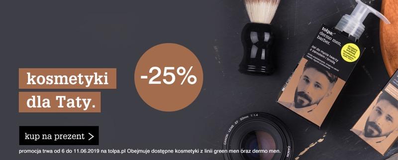 Tołpa: 25% rabatu na kosmetyki na Dzień Ojca