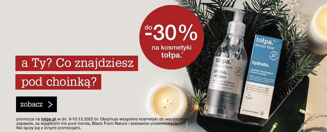 Tołpa: do 30% zniżki na kosmetyki do pielęgnacji twarzy i ciała