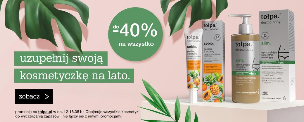Tołpa Tołpa: do 40% rabatu na cały asortyment kosmetyków