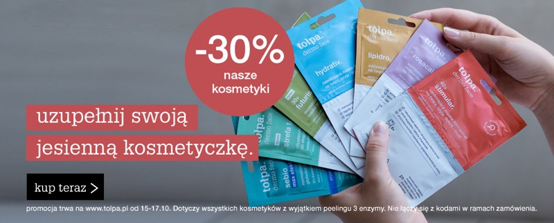 Tołpa: 30% zniżki na kosmetyki