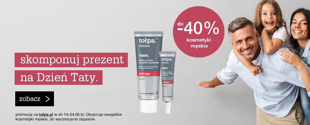Tołpa Tołpa: do 40% rabatu na kosmetyki męskie z okazji Dnia Taty