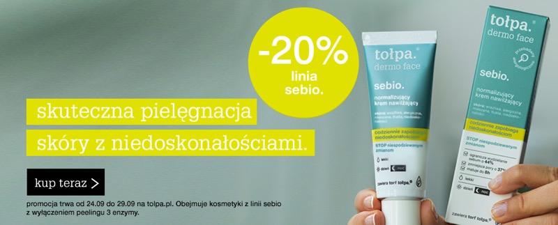 Tołpa: 20% rabatu na kosmetyki z linii Sebio                         title=