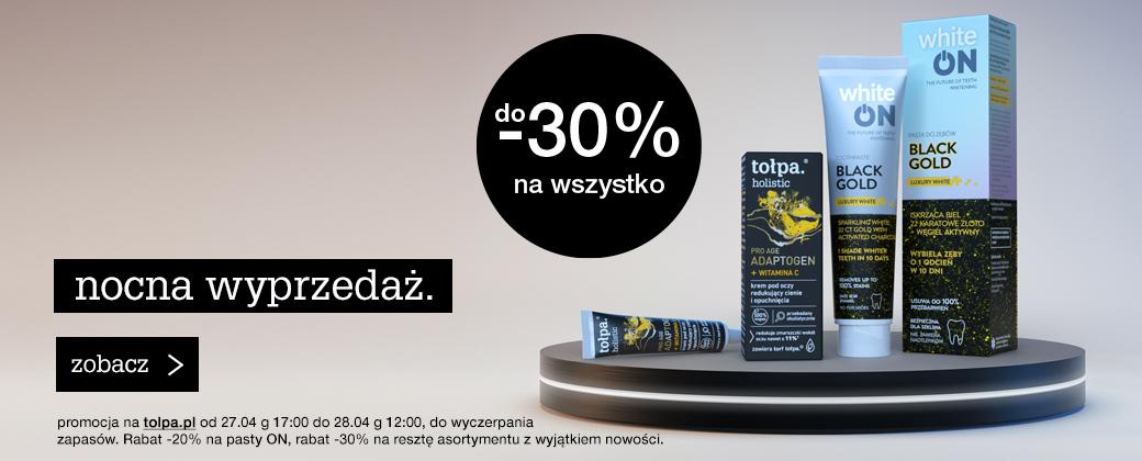 Tołpa Tołpa: do 30% rabatu na cały asortyment kosmetyków naturalnych