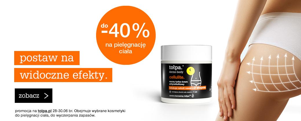 Tołpa Tołpa: do 40% zniżki na kosmetyki do pielęgnacji ciała