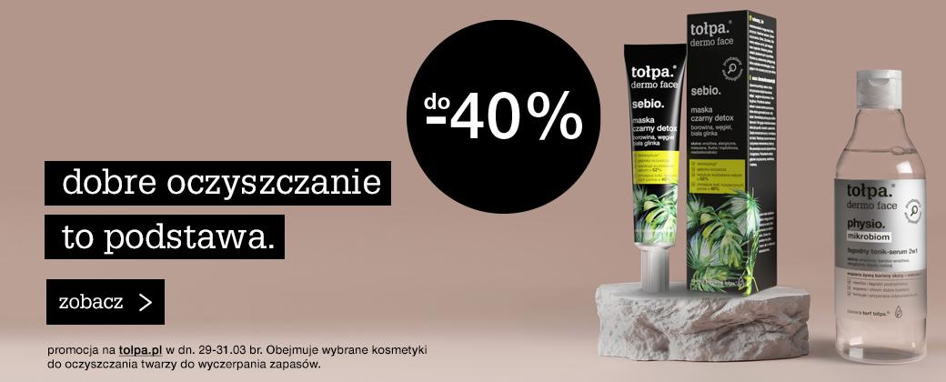 Tołpa: do 40% rabatu na kosmetyki do oczyszczania twarzy