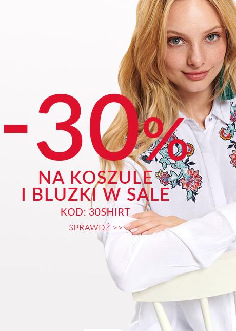 Top Secret: 30% zniżki na koszule i bluzki damskie