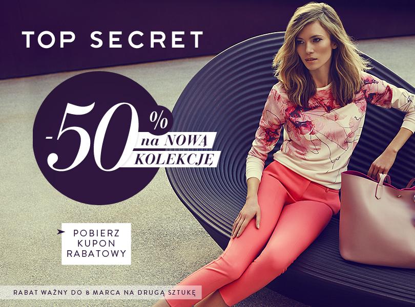 Top Secret: 50% zniżki na drugą sztukę z nowej kolekcji