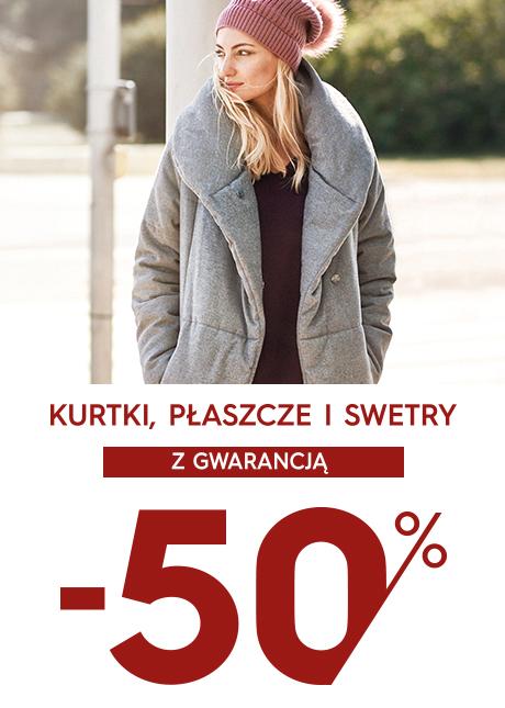 Top Secret: wyprzedaż 50% rabatu na kurtki, płaszcze i swetry