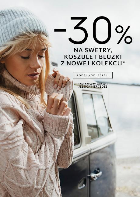 Top Secret: 30% zniżki na damskie swetry, koszule i bluzki z nowej kolekcji