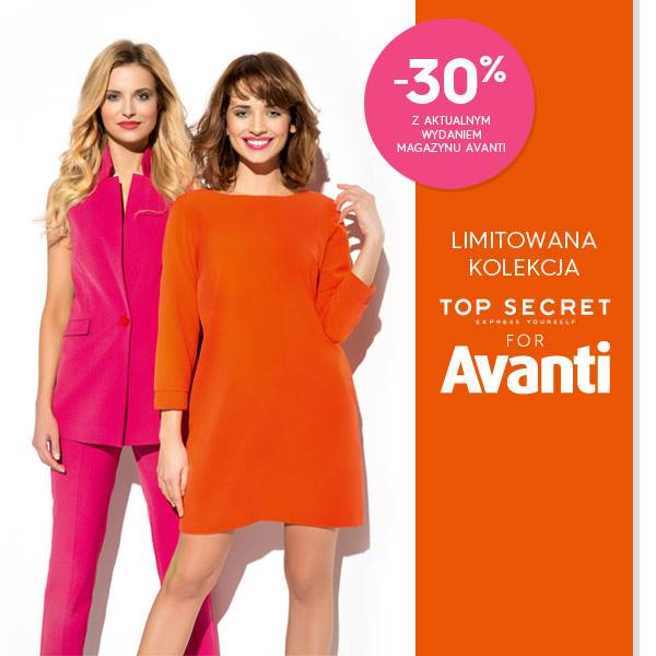 Top Secret: 30% kupon rabatowy z Avanti