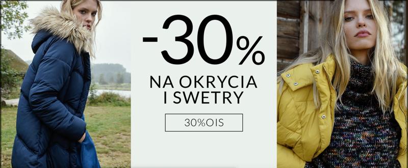 Top Secret: 30% rabatu na płaszcze, kurtki i swetry damskie z nowej kolekcji