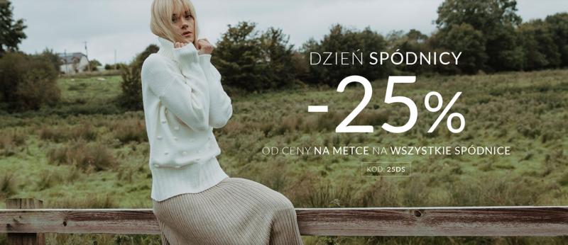 Top Secret: 25% rabatu na wszystkie spódnice damskie