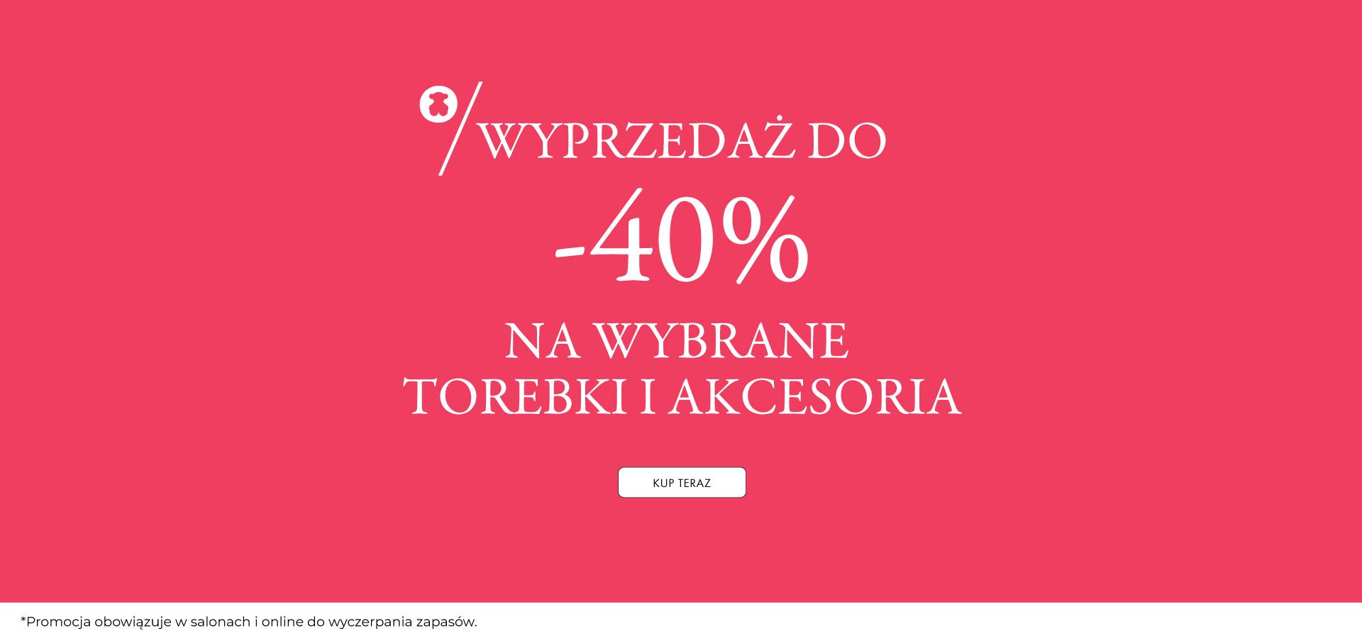 Tous: wyprzedaż do 40% zniżki na wybrane torebki i akcesoria
