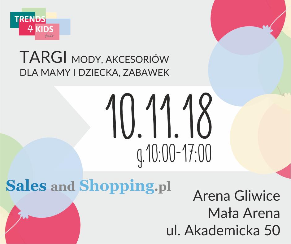 Targi Mody dla mamy i dziecka Trends 4 Kids 10 listopada 2018 w Gliwicach