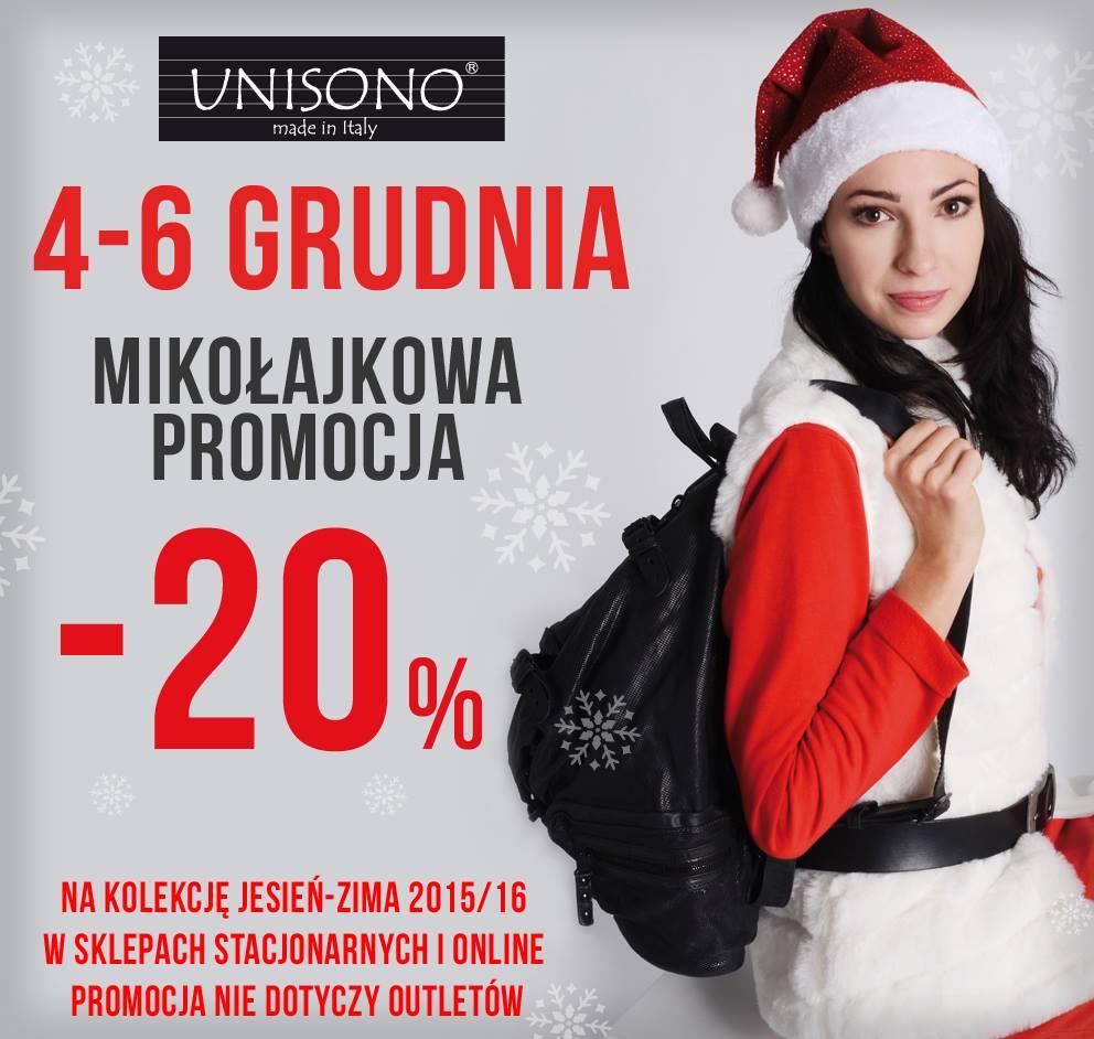 Unisono: 20% promocja na kolekcję jesień-zima 2015/16