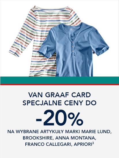 Van Graaf: wyprzedaż do 20% zniżki na odzież damską i męską wybranych marek