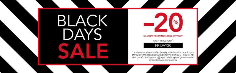 Black Days Van Graaf: wyprzedaż 20% rabatu na wszystkie przecenione artykuły